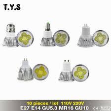 10pcs bombillas led mini spot light bulb e14 e27 mr16 gu5 3 gu10