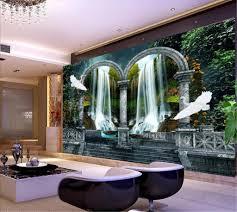 großhandel wandbild wallpaper wunderland wasserfall wasser kreative hd 3d landschaft wohnzimmer schlafzimmer hintergrund wand