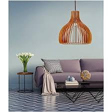 retro pendelleuchte aus holz ländlich hängele pendelle hängeleuchte vintage lenschirm aus holz für esstisch küche wohnzimmer restaurant