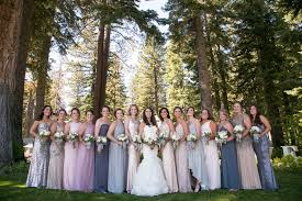Large Wedding Party Outdoor Rustic