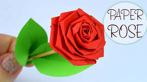 How To Make Rose Of Paper Diy Crafts Youtube