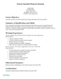 Teacher Aide Resume Example Teaching Assistant Samples Aurelianmg