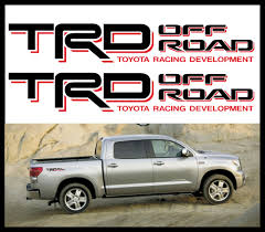 100 Toyota Truck Accessories Tacoma TRD Offroad 4x4 Decals Emblem Size