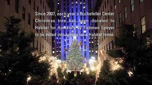Rockefeller Plaza Christmas Tree by Habitat For Humanity And The Rockefeller Center Christmas Tree