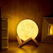 les de bureau led 2018 chaude nouveauté éclairage 3d lune lumière lunaire clair de