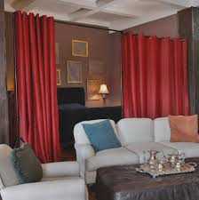 Walmart Curtains For Living Room by Bedroom 3 Panels Walmart Room Dividers With Dark Red Color And 4