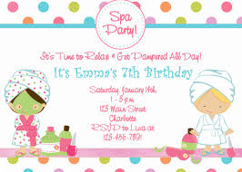 Free Printable Spa Birthday Party Invitations