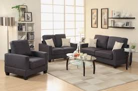 Poundex 3pc Sectional Sofa Set by 21 Plastic Chairs And Sofa Sets Living Room Sets Violetta Black