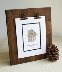 Our First Home New Housewarming Gift Personalized Map Realtor Closing