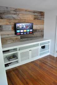 The Barn Wood Is Beautiful But Not For Our Houselike A Metallic Grass Cloth Wallpaper Behind Tv