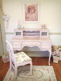 glamorous pink vintage french provincial vanity desk with pop up