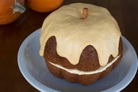 Gluten free Pumpkin Bundt Cake with Dairy free Butter Cream Cheese Frosting by DailyForage