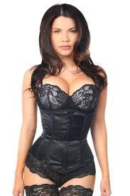 lavish satin underbust steel boned waist cincher corset corset