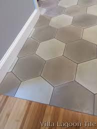mixed gray hex cement tile villa lagoon tile