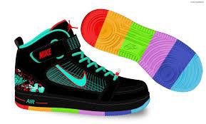 Nike Jordan With Rainbow Bottoms