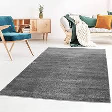 taracarpet kurzflor designer uni teppich weich fürs wohnzimmer schlafzimmer esszimmer oder kinderzimmer gala dunkel grau 120x170 cm