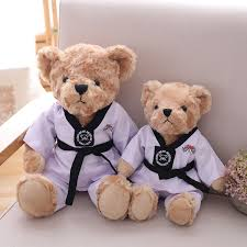 Fashion Cute Taekwondo Bear Plush Toy Stuffed Animal Toys Couple