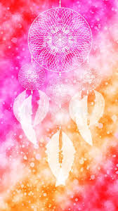 Download Dreamcatcher Colorful Watercolor Texture Background Wallpaper Pink Orange White Red Stock Illustration