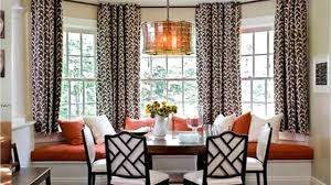 Modern Window Curtains For Living Room by Bay Window Curtain Rod Ideas Youtube