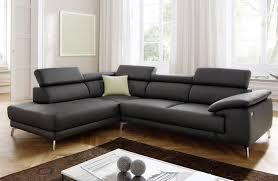 canapé en cuir salon angle en cuir family