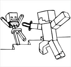Full Image For Coloring Pages Of Minecraft Steve You Can Break The Game Addiction By Introducing