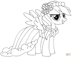 Free Printable My Little Pony Coloring Pages Rainbow Dash For
