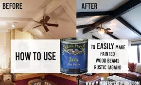 100 Rustic Ceiling Beams Mimiberry Creations How Gel Stain Makes Painted Wood