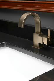 master bathroom chagne bronze faucets and fixtures