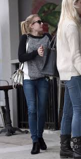 emma roberts in black orchid high rise jeggings in flirt