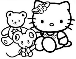 Adult Kitty Coloring Pages Kitty For Kids Cat Spring Sheet Kitty