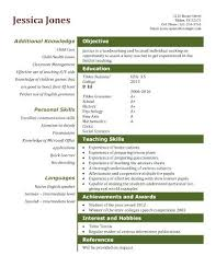 Sample Resume For Teacher Assistant Teaching Template Example Pre Kindergarten