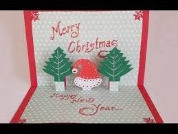 Christmas Handmade Greeting Cards Diy Paper Craft How To Make An Easy Pop Up