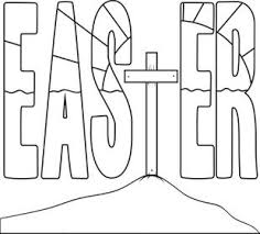 Free Printable Easter Cross Coloring Page For Kids