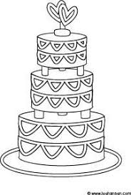 Drawn wedding cake black and white 4