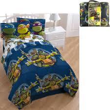 Superhero Bedding Twin by Nickelodeon Teenage Mutant Ninja Turtle Bed In A Bag 5 Piece