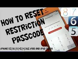 Reset Restrictions Passcode For iPhone iPod Touch & iPad Without
