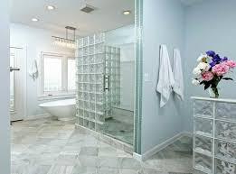 separation salle de bain briques de verre salle de bain moderne cloisons de séparation en