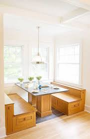Kitchen Island Booth Bench Seating With Storage Built In Banquette For Additional Purple Makeovers