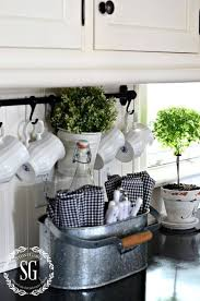 22 Galvanized Metal Cutlery And Linens Caddy
