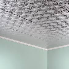Armstrong Ceiling Tiles 2x2 by Fasade Ceiling Tile 2x2 Direct Apply Cyclone In Brushed Aluminum