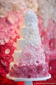 Beautiful Cake Pictures Cascading Pink Ombre Flowers On Wedding Cakes With Thats Gorgeous