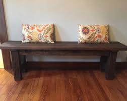 Wooden Farmhouse Bench Entryway Rustic