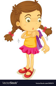 Girl ting dressed Royalty Free Vector Image