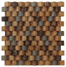 1575x1575 Grand Terrace Wood Mosaic Multicolor Teak Wall Tiles