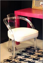 Acrylic Vanity Chair With Wheels by Clear Desk Chair Inspiration Ideas For Clear Office Chair 61