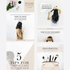 Social Media Template Pack Beauty Lifestyle Edition