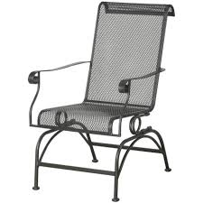 Fleet Farm Patio Furniture Cushions by Courtyard Creations Dixon Wrought Iron Stationary Rocker Patio
