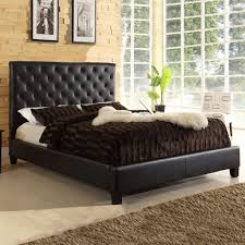 Sears Platform Beds by Oxford Creek Grafton Tufted Queen Platform Bed In Chocolate Faux