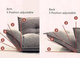 shop modern design floor sofa bed 5 position