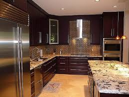 Amazing of Contemporary Dark Wood Kitchen Cabinets Modern Style